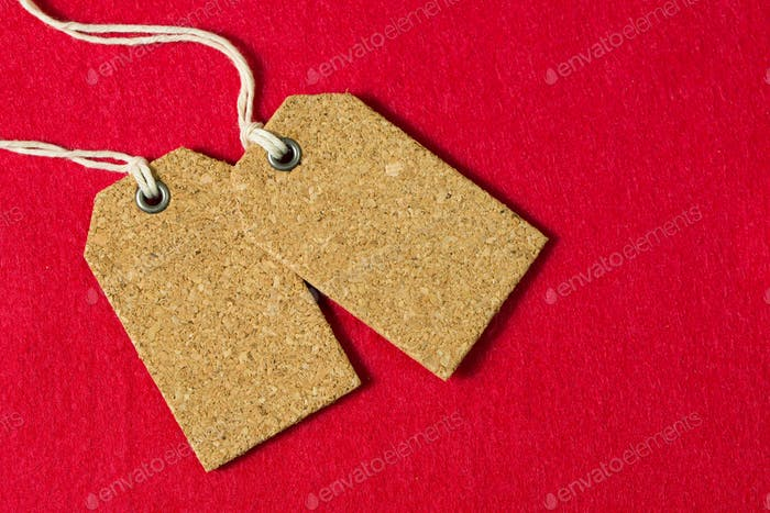 Set of blank price tags
