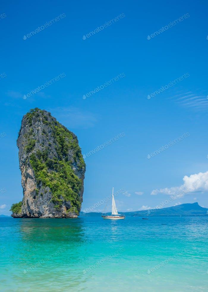 The beautiful landscape of Koh Poda (Poda Island)