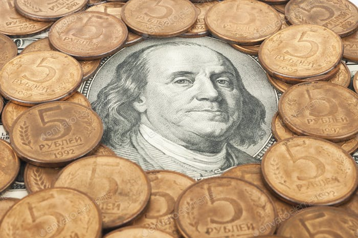 Russian rubles and US dollars