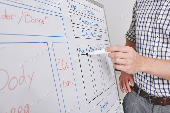 UI designer working on new interface