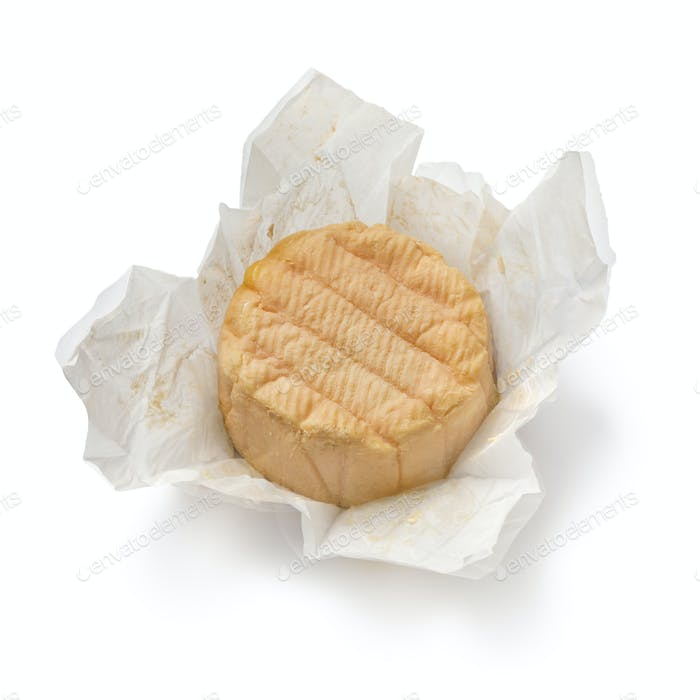 French Munster cheese in paper