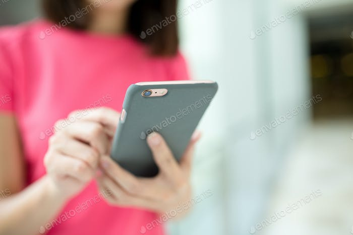 Woman use of smart phone