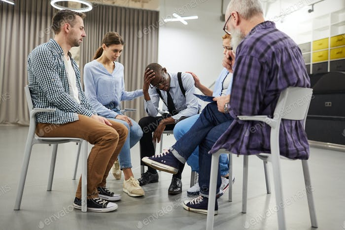 African-American Man in Support Group