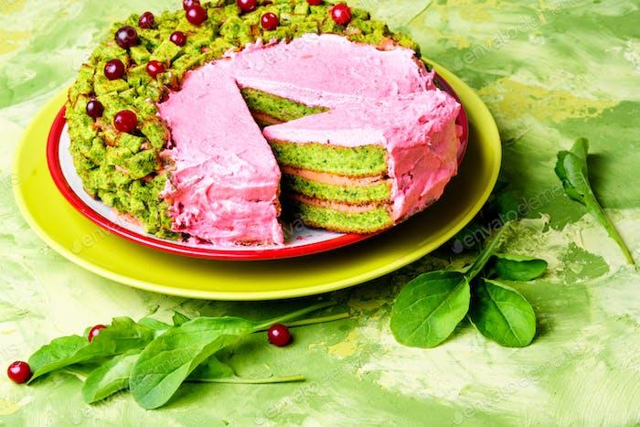 Vegan pie of herb