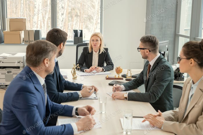 Business people sitting at meeting