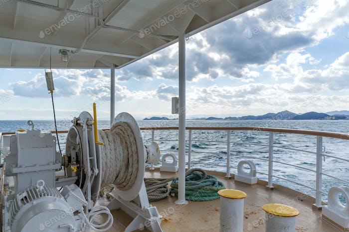 Deck touristisches Schiff zu reisen