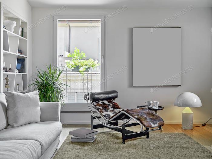 Innenräume eines modernen Wohnzimmers