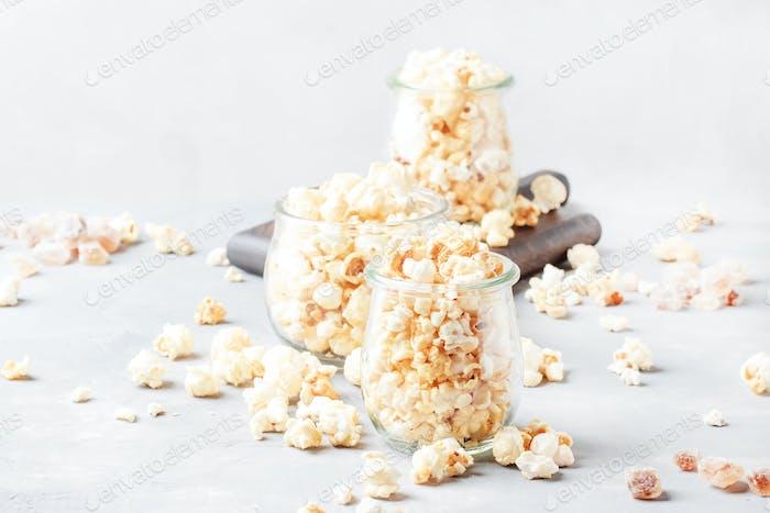 Sweet popcorn, junk food