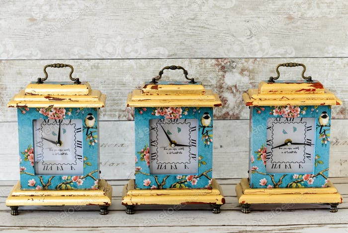 Decoupaged Clocks
