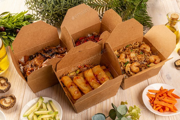 Concept of Chinese street food