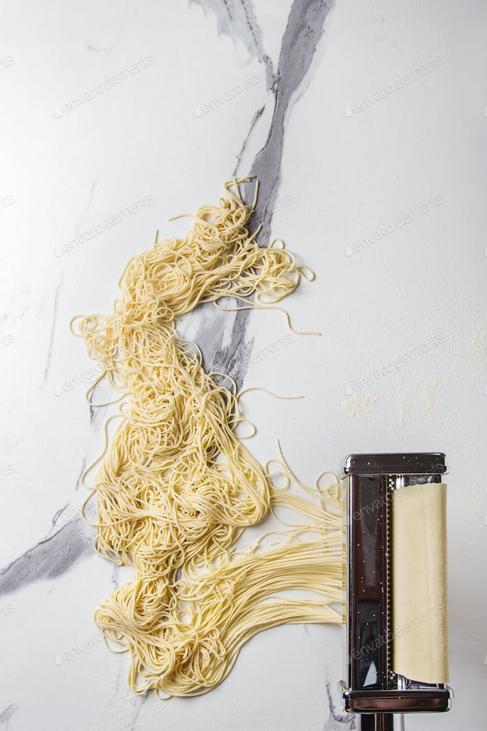 Homemade uncooked pasta