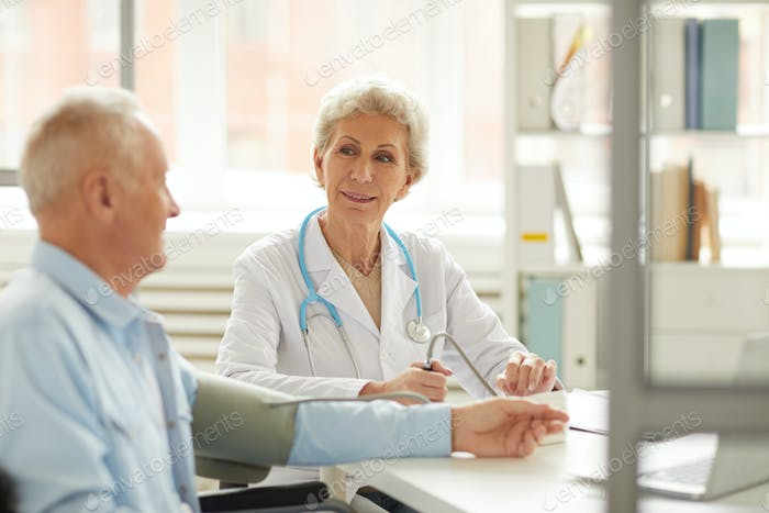 Senior Patient at Checkup