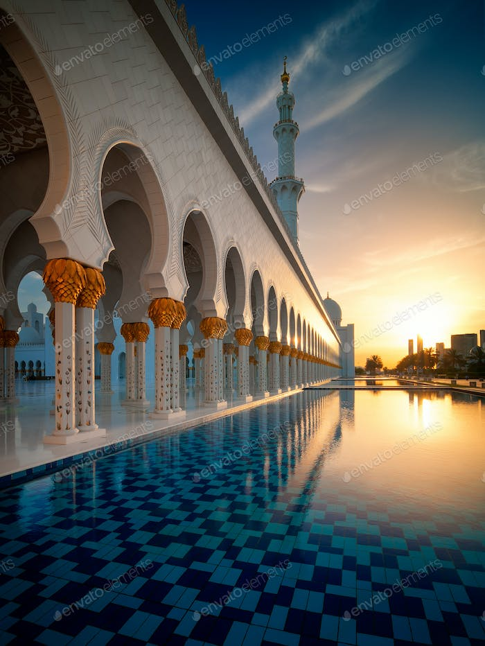 Sunset view at Mosque