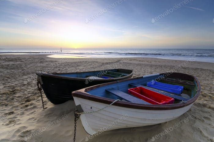 Fishing Boats on a Sandy Beach