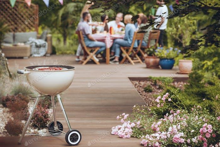 Grill in garden