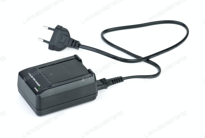 Lithium-ion battery inserted in charger