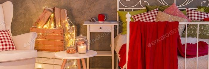 Modern decor of bedroom