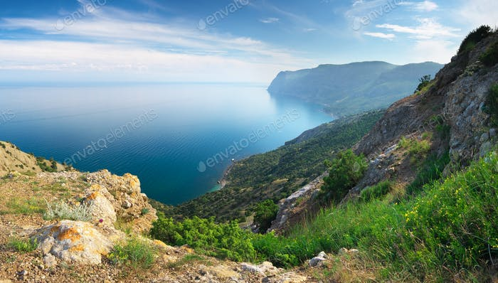 Mountain and sea panorama