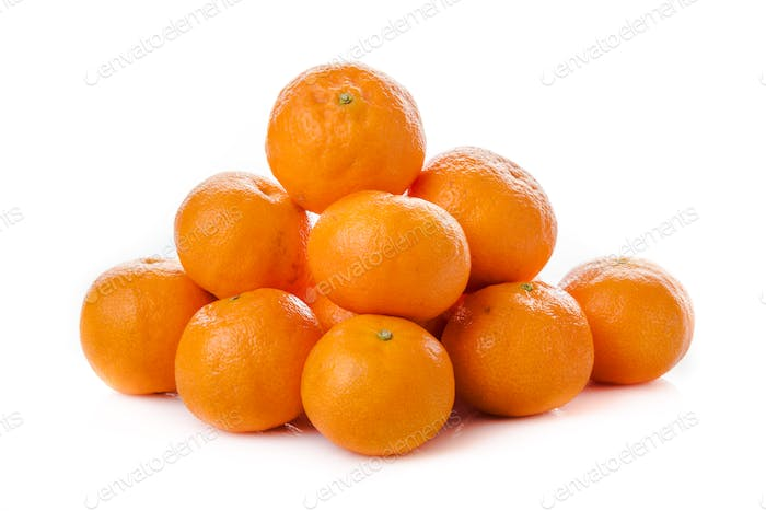 clementine  isolated.  mandarin.  orange. tangerine