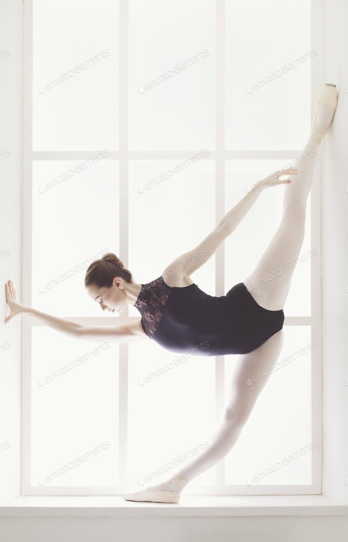 Classical Ballet dancer in split