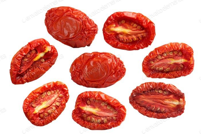 Getrocknete Tomatenhälften, Pfade