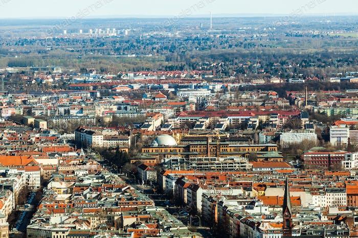 Berlin Skyline City Panorama. Berlin, Deutschland, Europa.