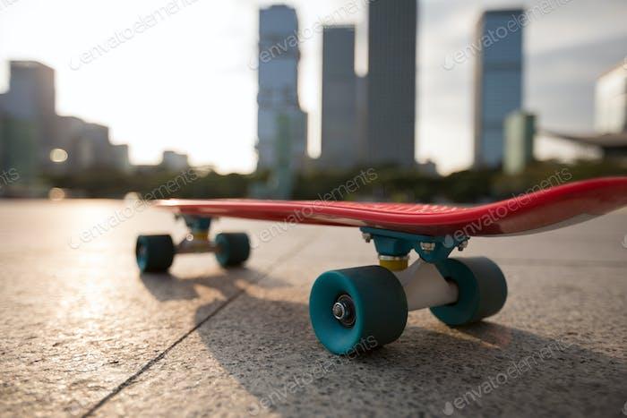 Skateboard on city