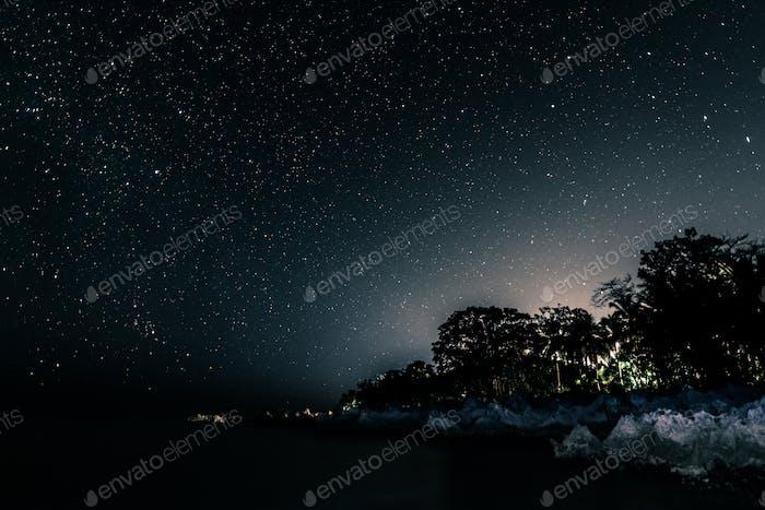 Night Long Exposure of the Stars