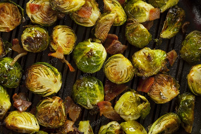 Homemade Grilled Brussel Sprouts