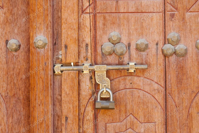 Traditional Arabian Padlock