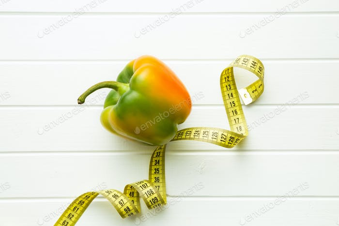 Multicolored bell pepper.
