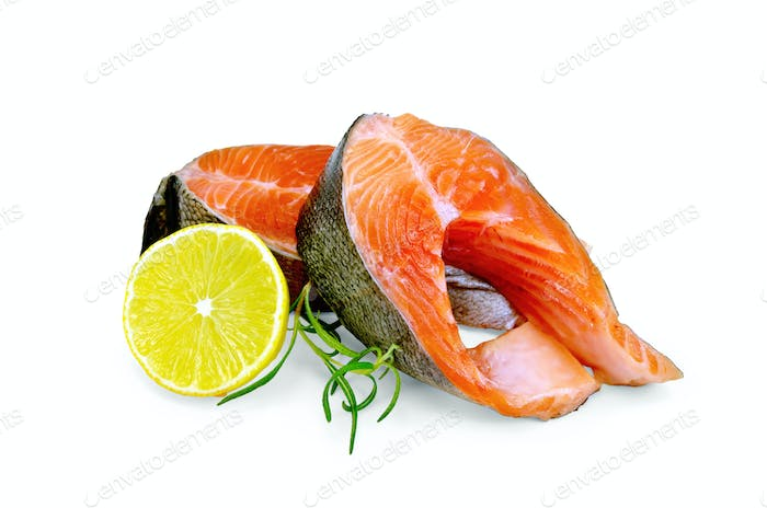 Trout with lemon and rosemary