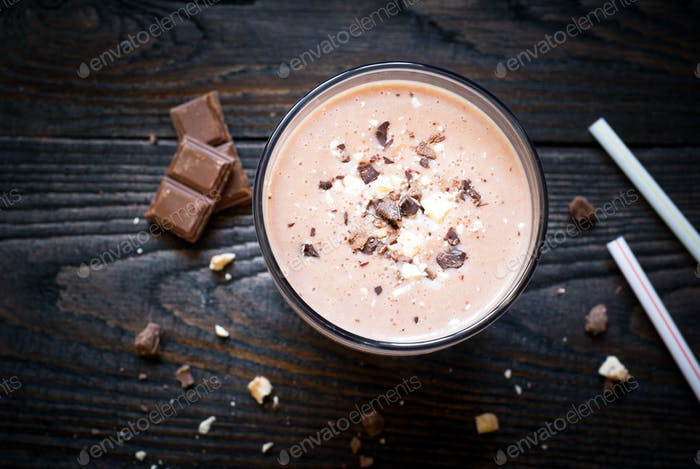 Milkshake with Banana and chocolate