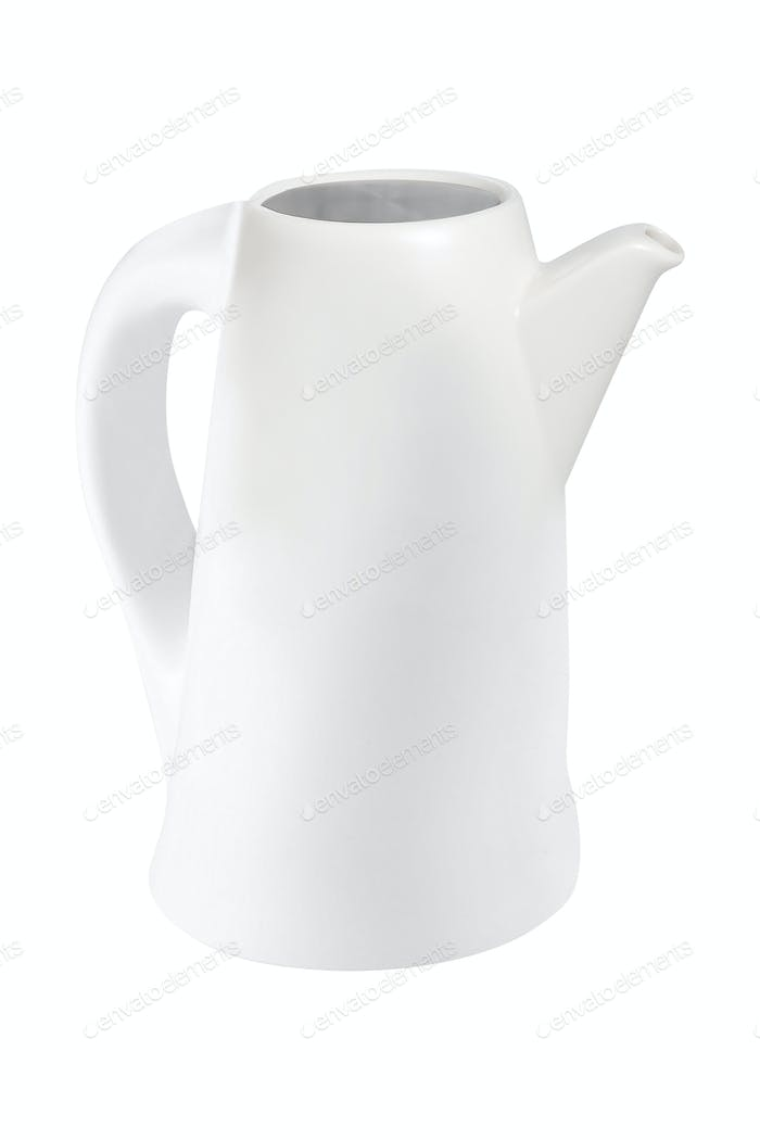 white teapot isolated on white