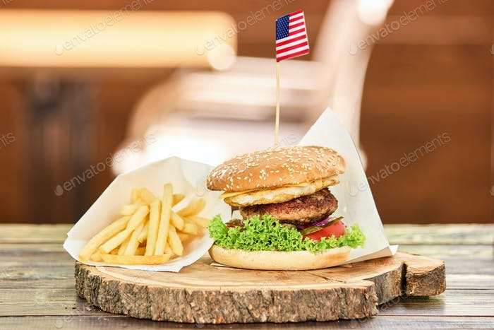 Set of unhealthy food.