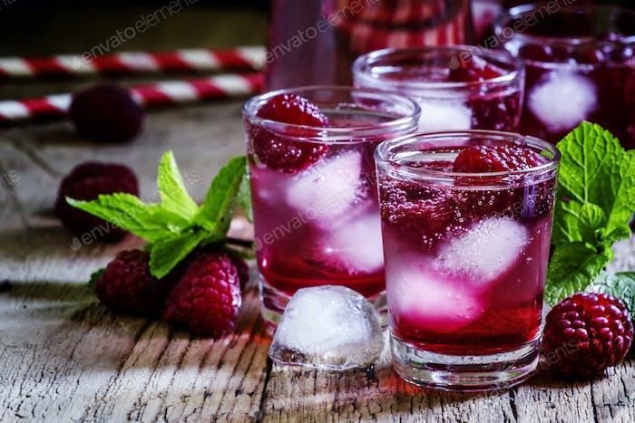 Raspberry fizzy drink