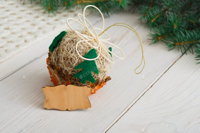 Creative diy hobby. Handmade craft christmas decoration ball