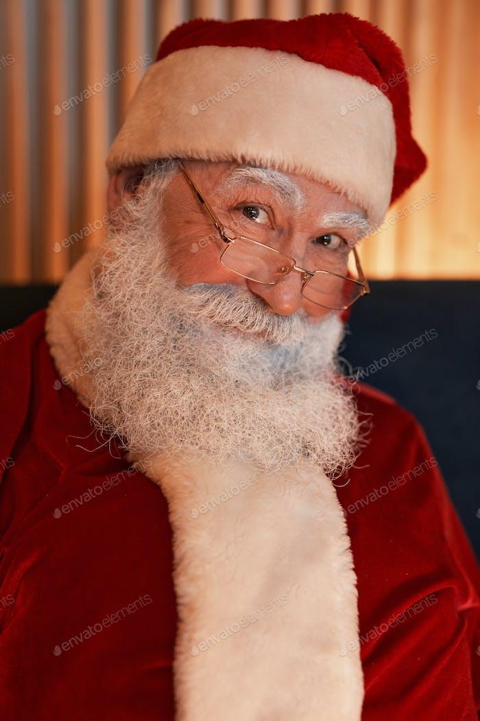 Portrait Of Kind Santa