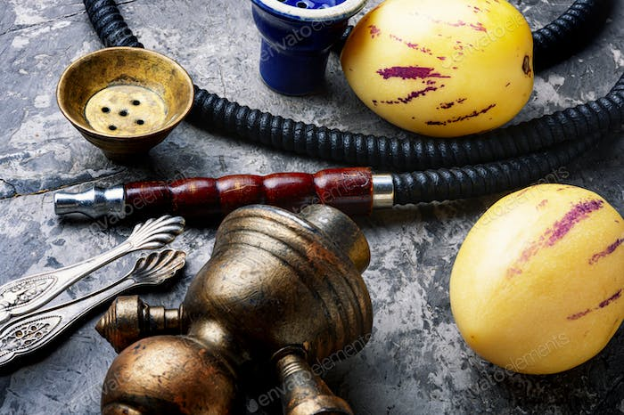 Turkish shisha with pepino tobacco