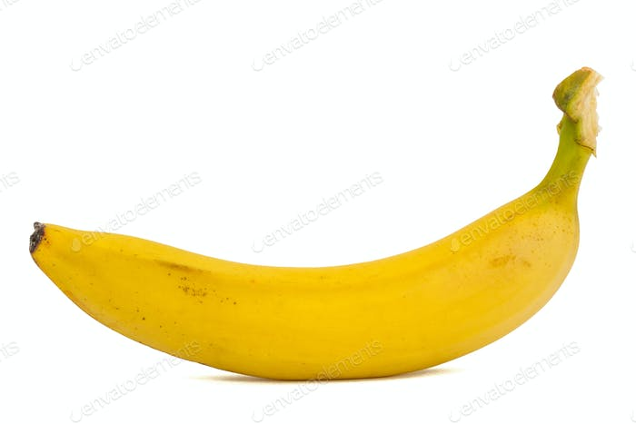 Fresh ripe banana, isolated on white background