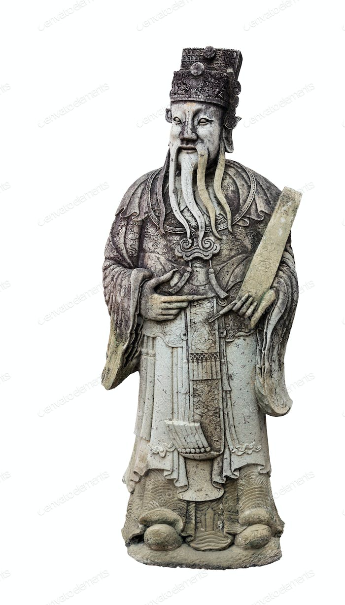 Old wise man statue