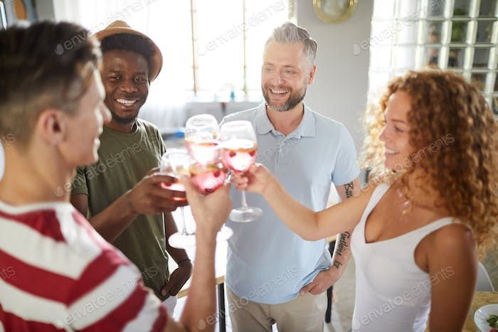 Group of Guests Enjoying Party