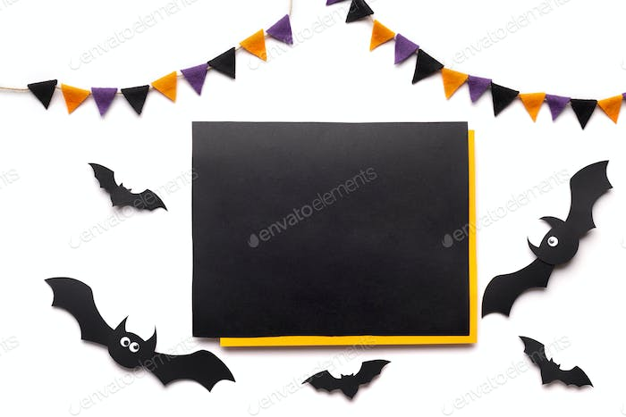 Chalk board for handwriting text on halloween background