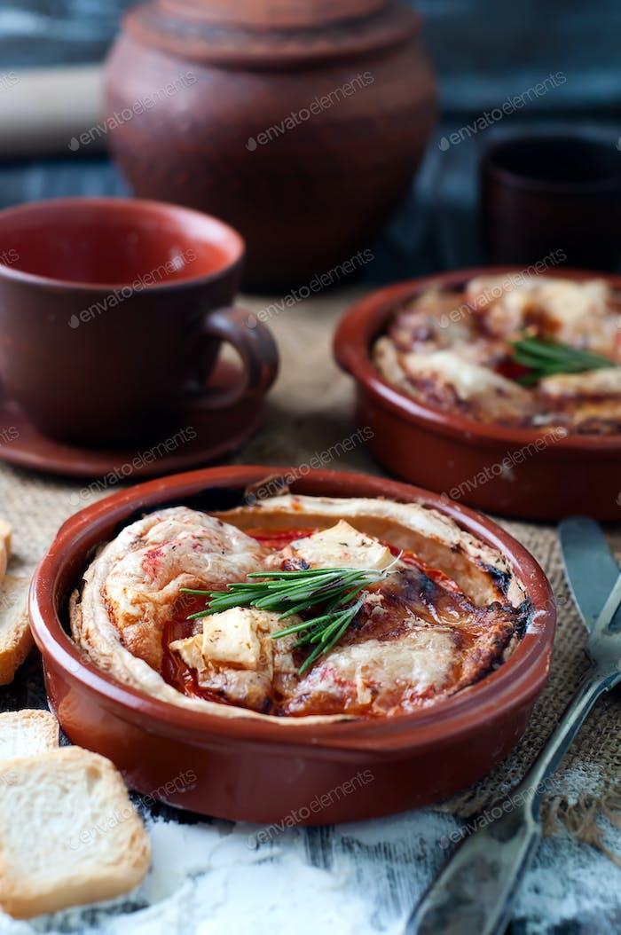 Burek, a traditional Balkan dish