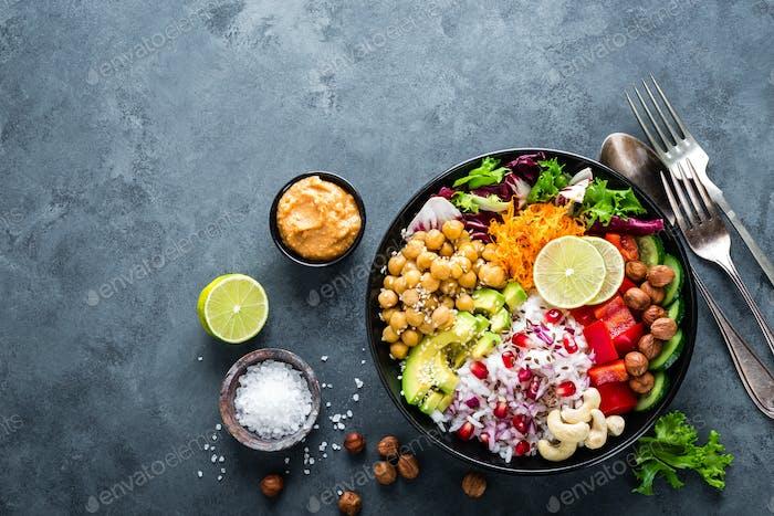 Healthy vegetarian Buddha bowl