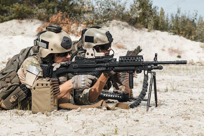 US Army Rangers Maschinengewehr