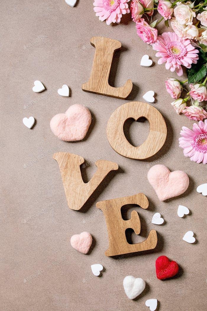 Holzbuchstaben Liebe