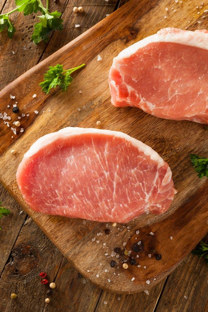 Raw Organic Boneless Pork Chops