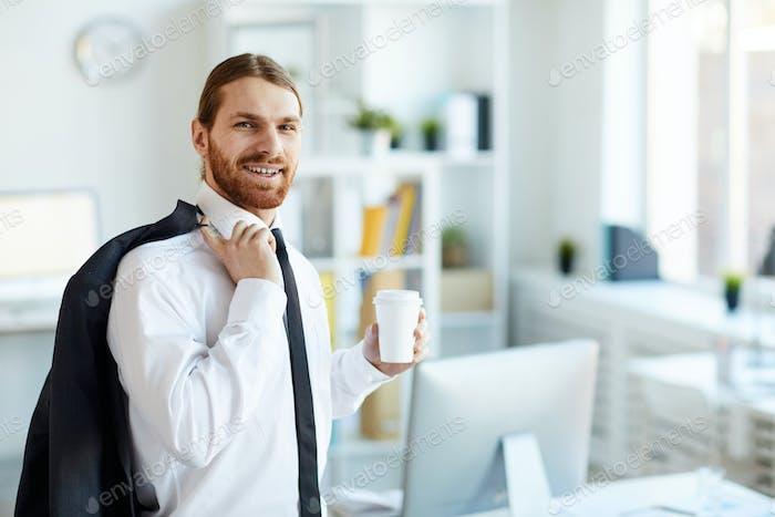 Employee in formalwear