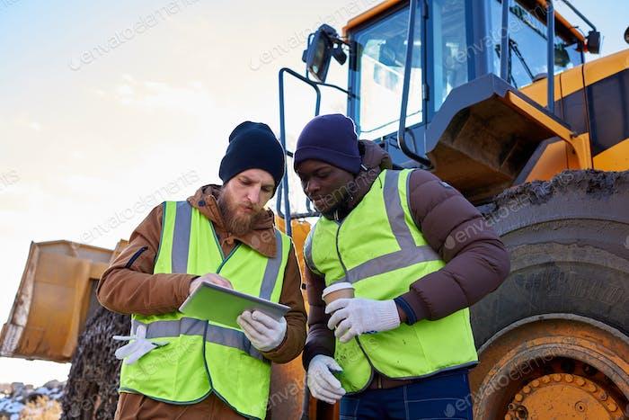 Mining Crew vor Ort